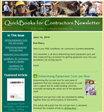 quickbooks for contractors newsletter
