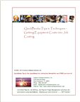 QuickBooks equipment job costing instruction