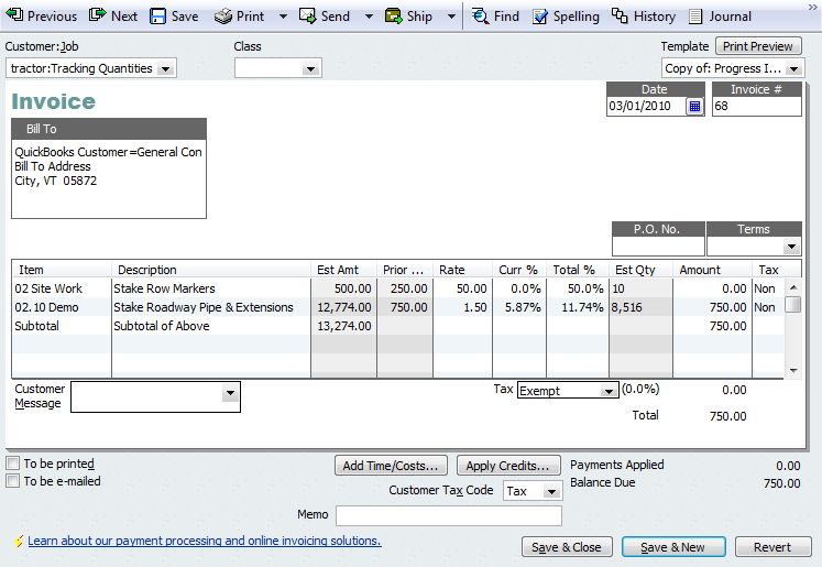 An Introduction To Progress Invoicing QuickBooks For Contractors Blog - How to make an invoice on quickbooks