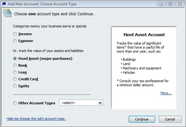 create a new account in QuickBooks