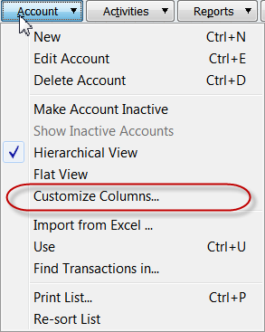 select customize columns