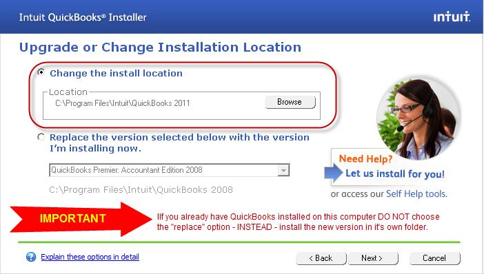 Install to new folder