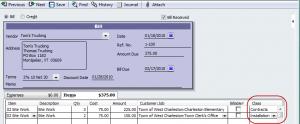 Vendor bill assigned to multiple=