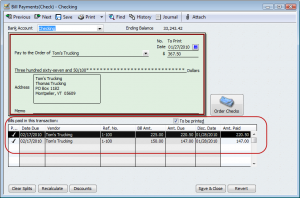 create a single bill payment check