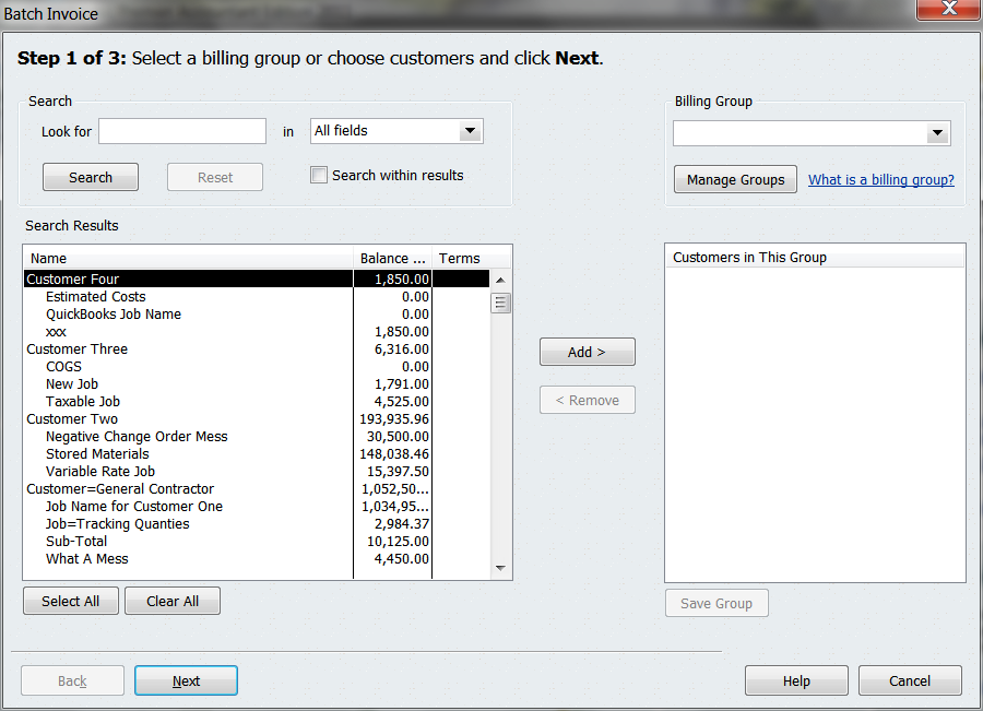 Quickbooks 2011 batch invoicing increases efficiency quickbooks right fandeluxe Image collections