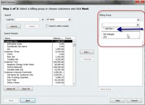 create billing groups