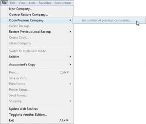 no previous company files