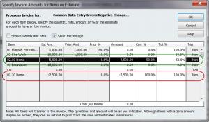 specify the negative amount