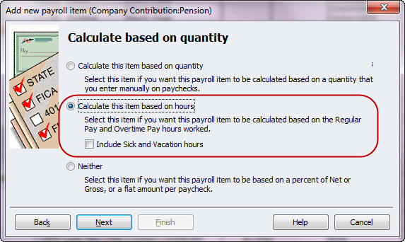 calculate fringe benefits based on hours worked