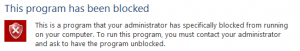 This program has been blocked