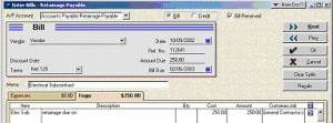 Accounts Payable sub item