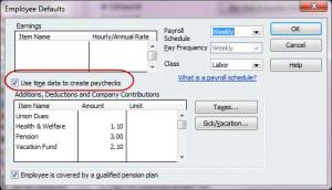 employee defaults