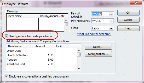 How to set up timetracking quickbooks tip quickbooks for employee defaults fandeluxe Image collections