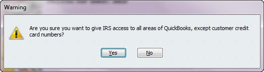 external accountant user warning