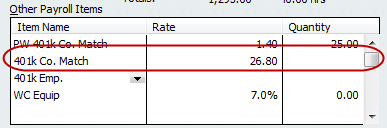 401k contribution