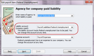 change futa liability account