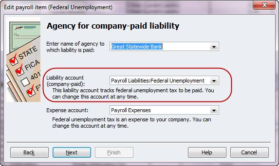 change futa liability account