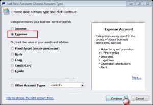 create new expense sub-accounts