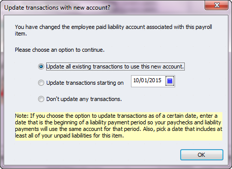 update transactions