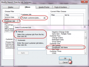 modify the time by job summary report