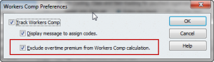 QuickBooks Workers Compensation preference