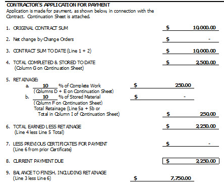 How To Calculate Display Retainage On An AIA GG - Aia construction contract template
