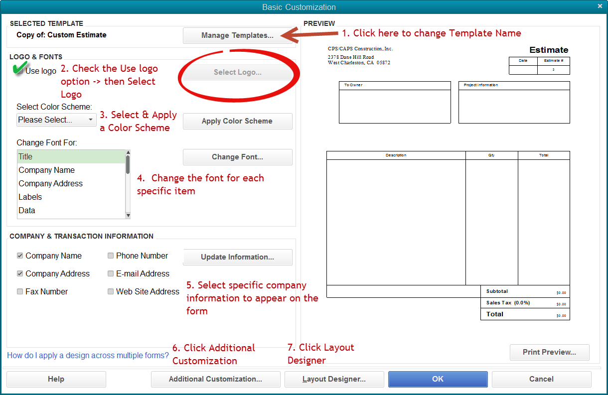 QuickBooks Tip-How To Add a Logo and Customize Your Forms ...