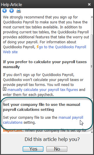 how to turn on and use manual payroll in quickbooks