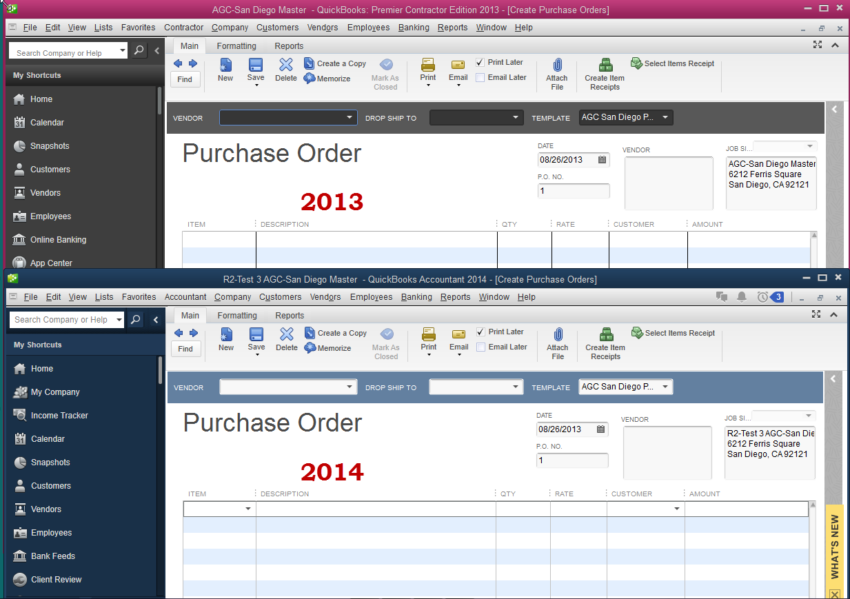 QuickBooks 2014 visually easier