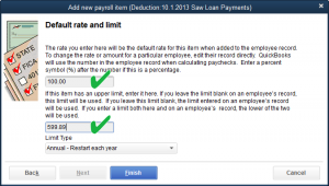 employee loan deduction saw