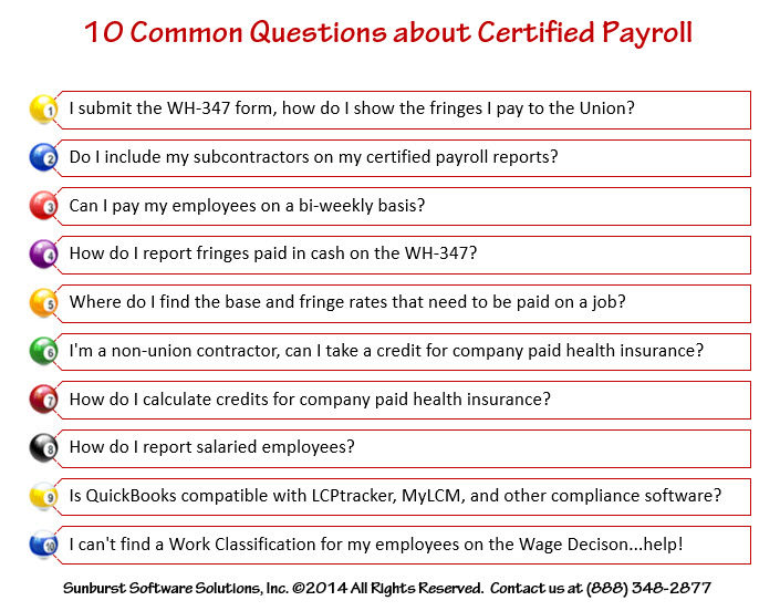 Ask Me Anything – 10 Common Questions About Certified Payroll