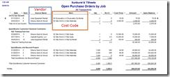 Open PO by job-standard