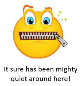 It sure has been mighty quiet around here!